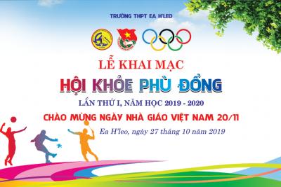 Lịch thi đấu Hội Khỏe Phù Đổng THPT Ea H'Leo lần thứ I 2019 – 2020