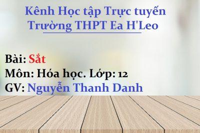 [Hóa học 12] Sắt – THPT Ea H'Leo
