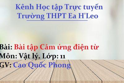 [Vật lý 11] Bài tập chương 5 Cảm ứng điện từ – THPT Ea H'Leo