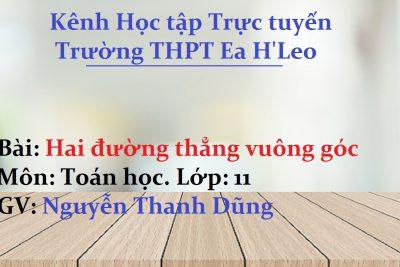 [Toán học 11] Hai đường thẳng vuông góc – THPT Ea H'Leo